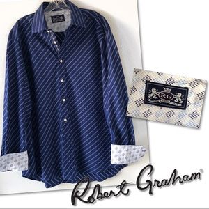Robert Graham RG 100% cotton blue shirt  XXL